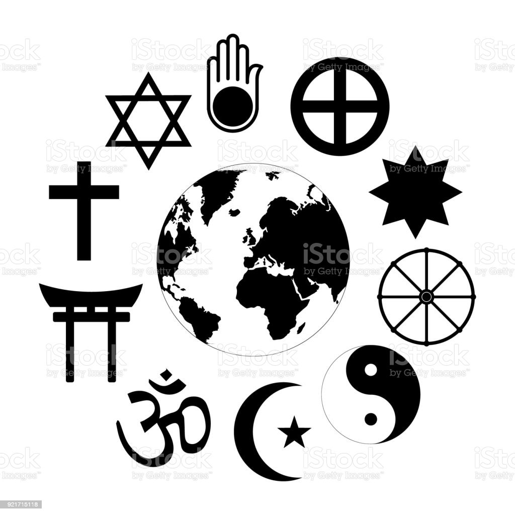 World Religions Planet Earth Flower World Religions Flower Icon Made