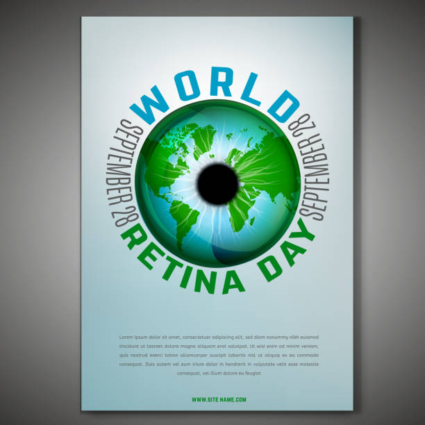 world retina day - сетчатка stock illustrations