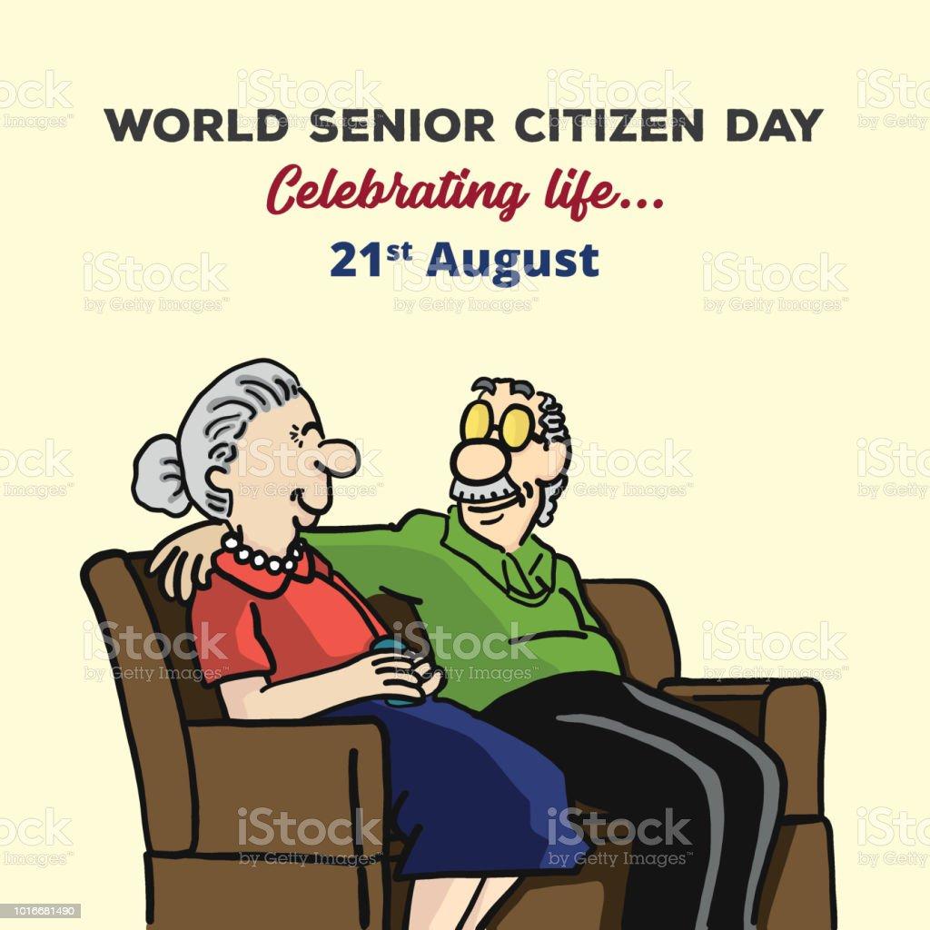 World Senior Citizen Day Stock Illustration - Download Image