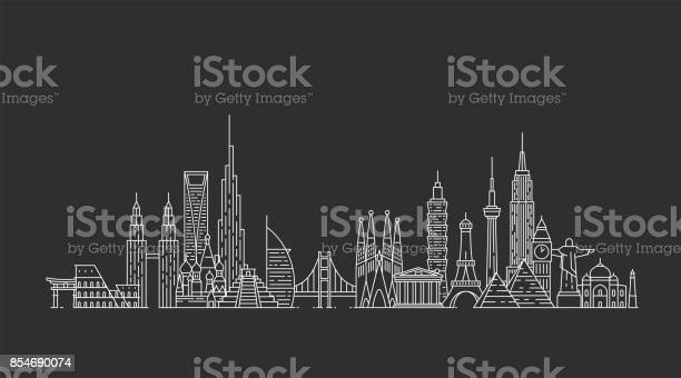 World skyline illustations in outline style vector id854690074?b=1&k=6&m=854690074&s=612x612&h=pbno8l iwjn8tkiwjtw3r5vlcllxn0lyyq8cr dmeru=
