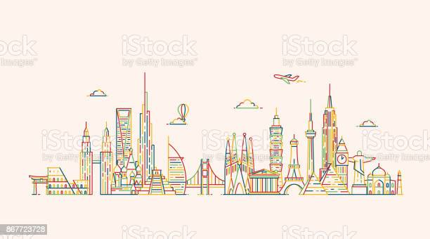 World skyline illustations in outline style vector id867723728?b=1&k=6&m=867723728&s=612x612&h=g9iv5b36pzqbbqubibgere wrupzwyx2 xml3both0i=