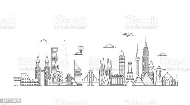 World skyline illustations in outline style vector id867723878?b=1&k=6&m=867723878&s=612x612&h=iv0tzvwyb4wxfcuygfjholtrbxzm41tm9rqh8wmqf u=