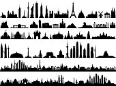 World skyline. All buildings are complete, moveable and highly detailed.