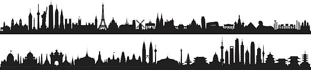 World Skyline (All Buildings Are Detailed, Complete and Moveable) - Illustration vectorielle