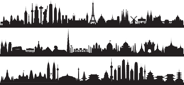 World Skyline (All Buildings Are Complete and Moveable)