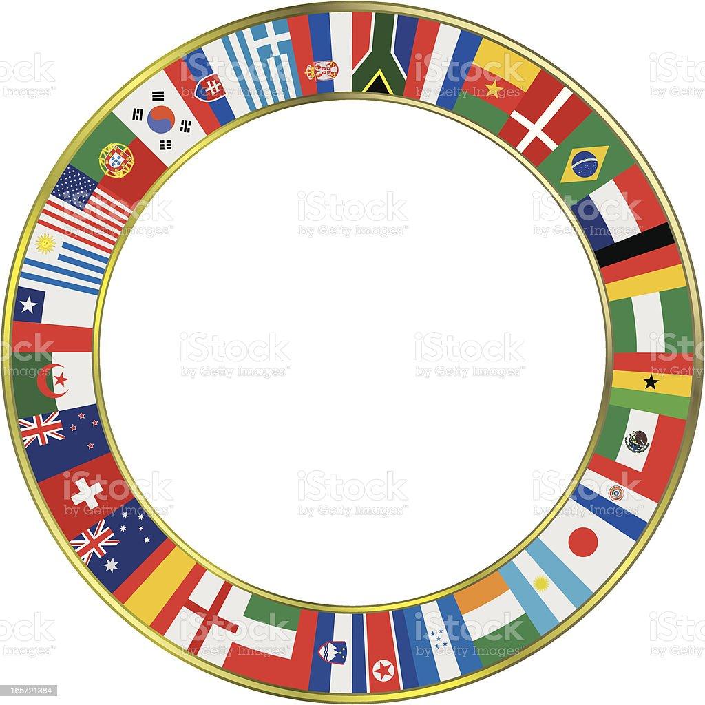 World Soccer Flags royalty-free stock vector art