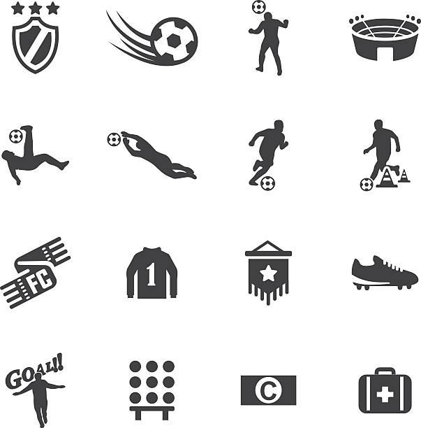 Welt Fußball-Silhouette icons 2 – Vektorgrafik