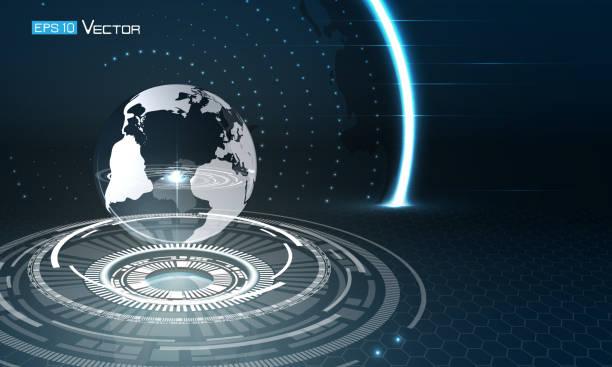 Welt-Kugel mit Leuchten – Vektorgrafik