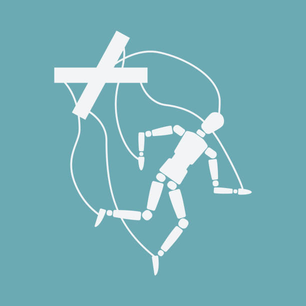 world suicide prevention day concept. broken puppet - marionetka stock illustrations