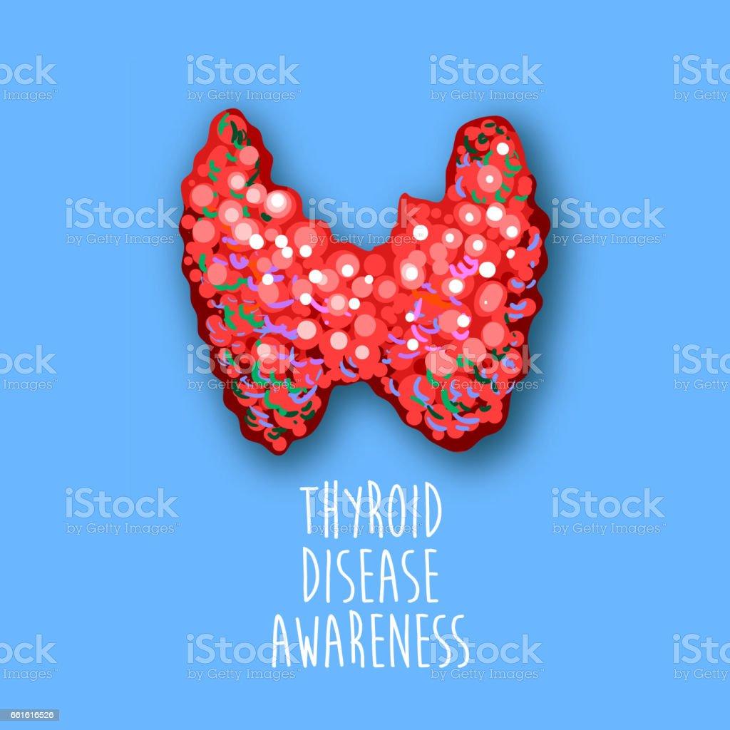 World thyroid day poster. Human thyroid disease awareness. Thyroid gland cancer. Thyroid Solidarity Day. Medical concept. Vector Illustration vector art illustration