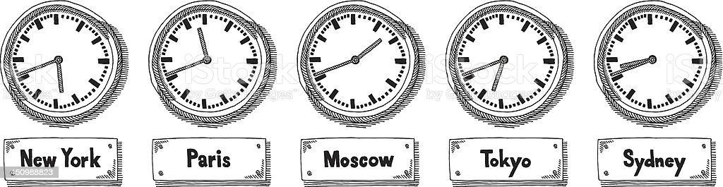 159693a510f De fuso de horário mundial relógios de desenho na parede vetor de de fuso  de horário