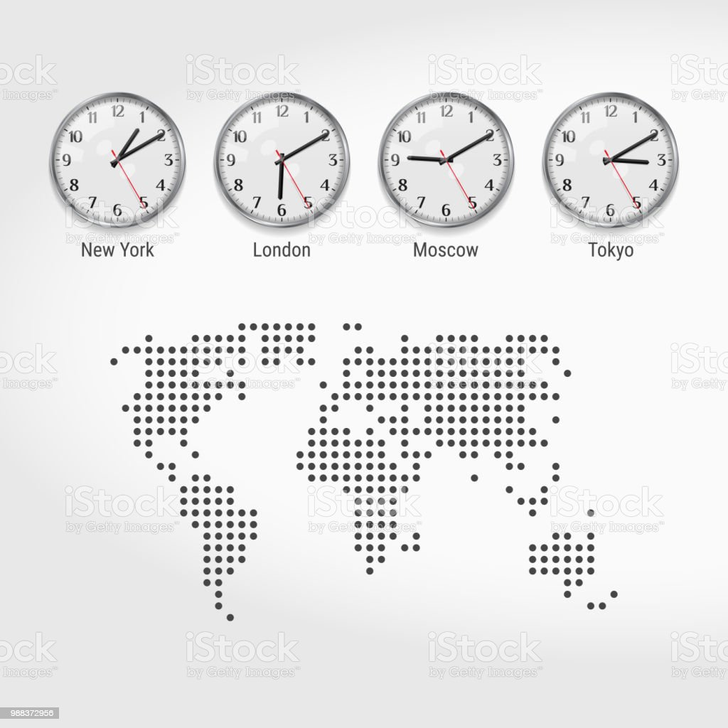 World Time Zones Clocks Current Time In Famous Cities Local ...