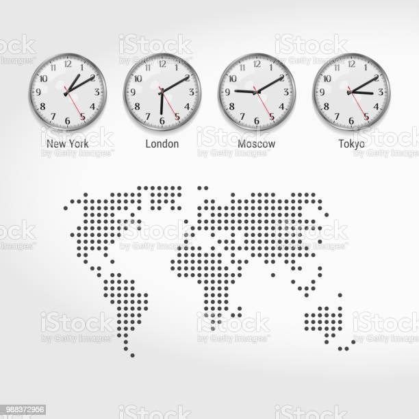 World Map Time Zones Free Vector Art - (19 Free Downloads)