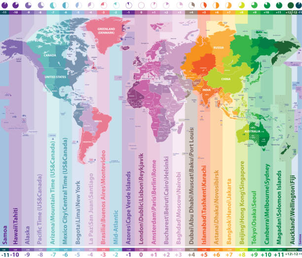 Top 60 Time Zone Map Clip Art Vector Graphics And Illustrations - Us-and-canada-map-with-time-zones