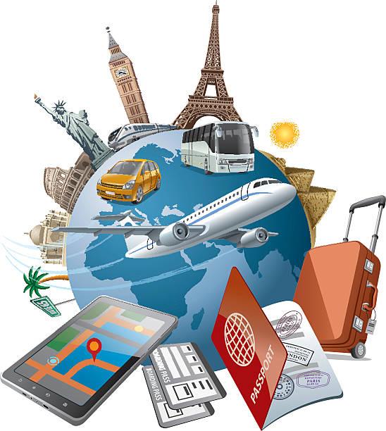 welt-tour - tour bus stock-grafiken, -clipart, -cartoons und -symbole
