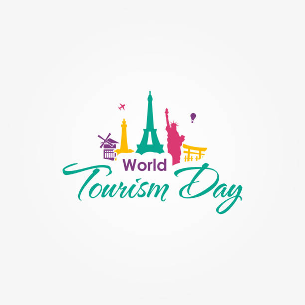 World Tourism Day Vector Design Template vector art illustration