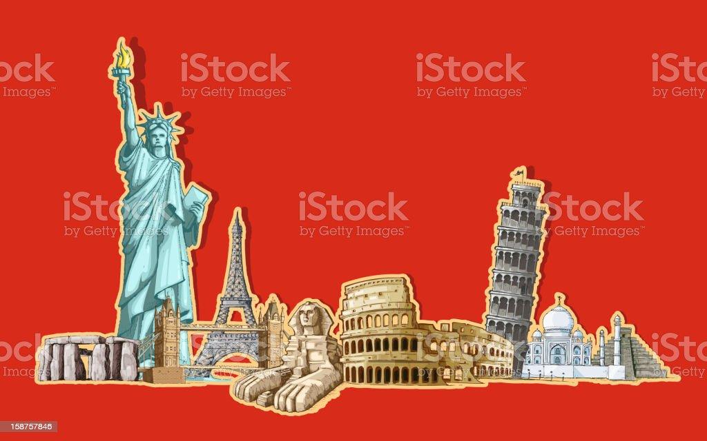 World Tourism royalty-free stock vector art