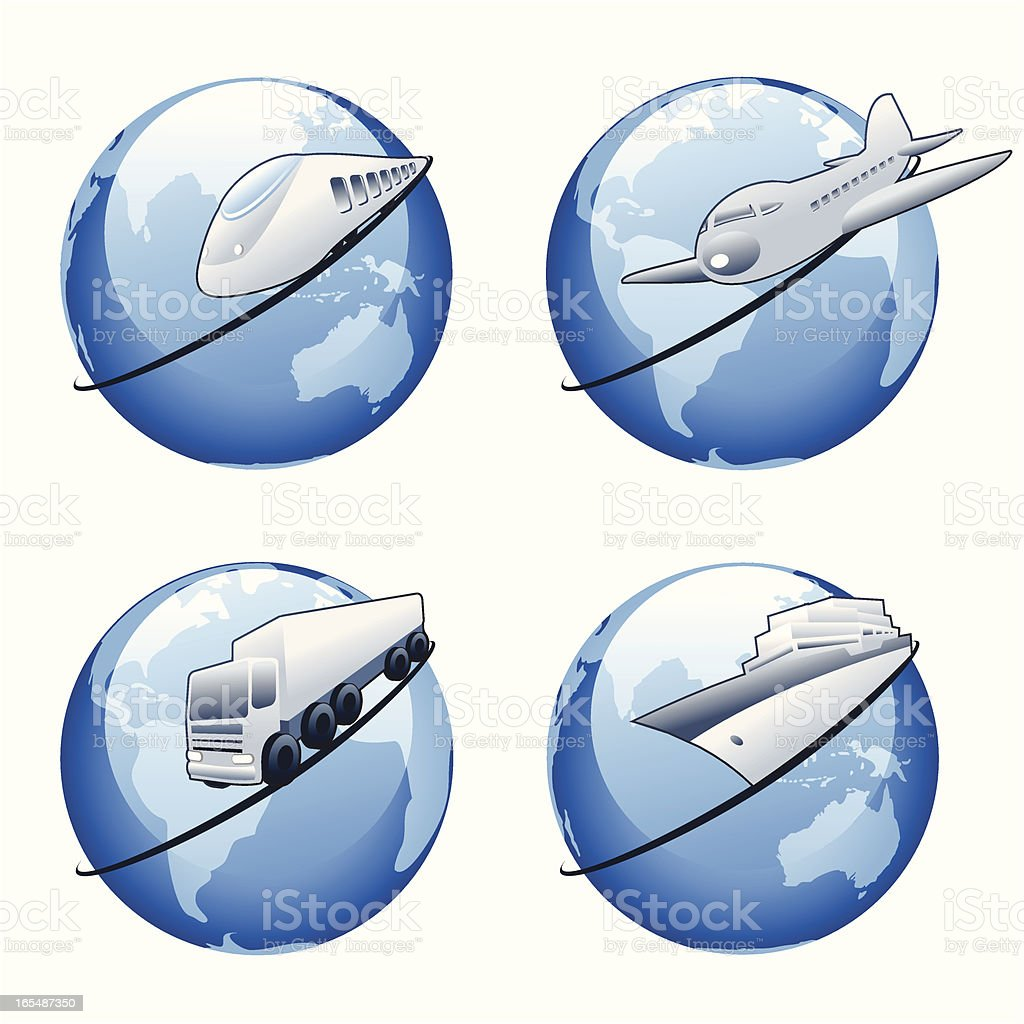 World transport royalty-free world transport stock vector art & more images of activity