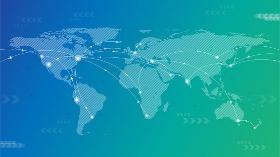 World travel background