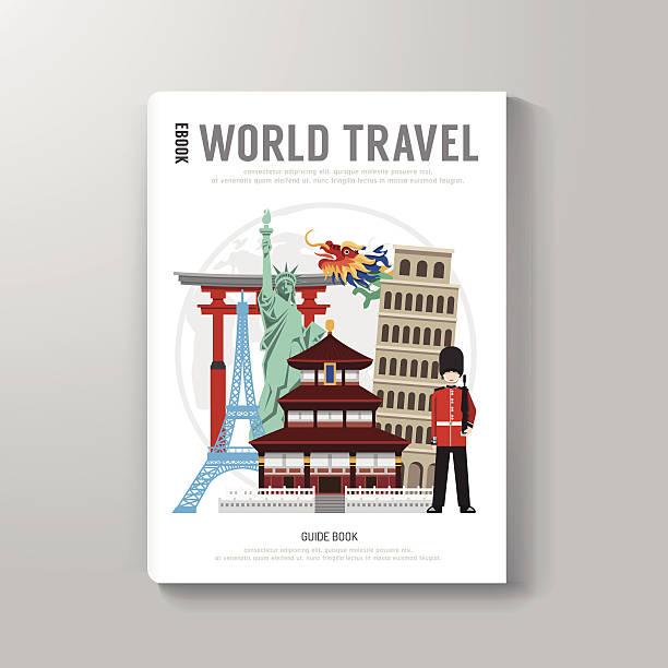 World Travel Business Buch Vorlage-Design. – Vektorgrafik