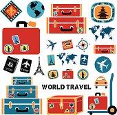 Vector world travel design elements.