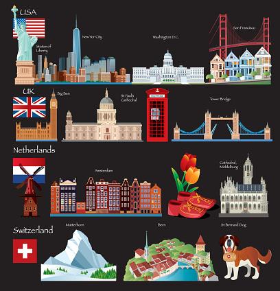 World Travel symbols