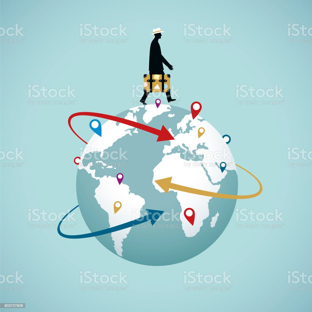 World Travel vector art illustration