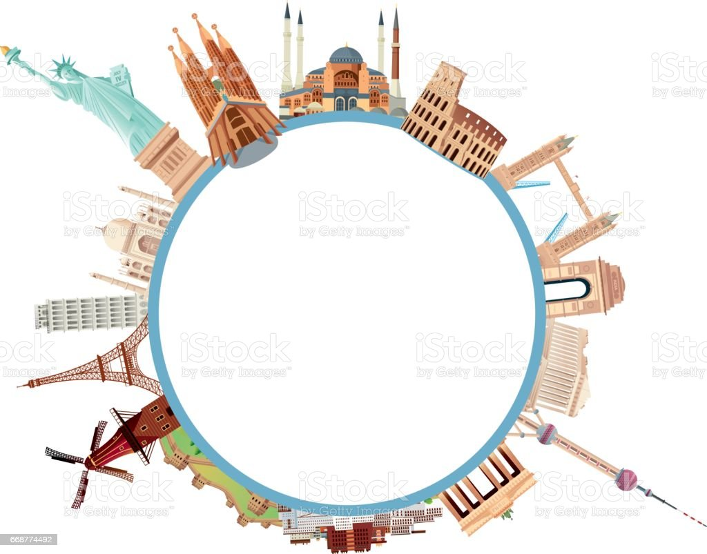 World Travels vector art illustration