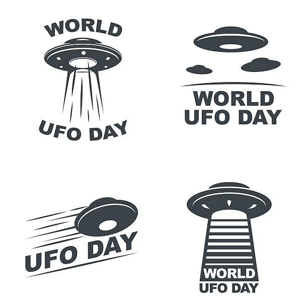 stockillustraties, clipart, cartoons en iconen met world ufo day - ufo