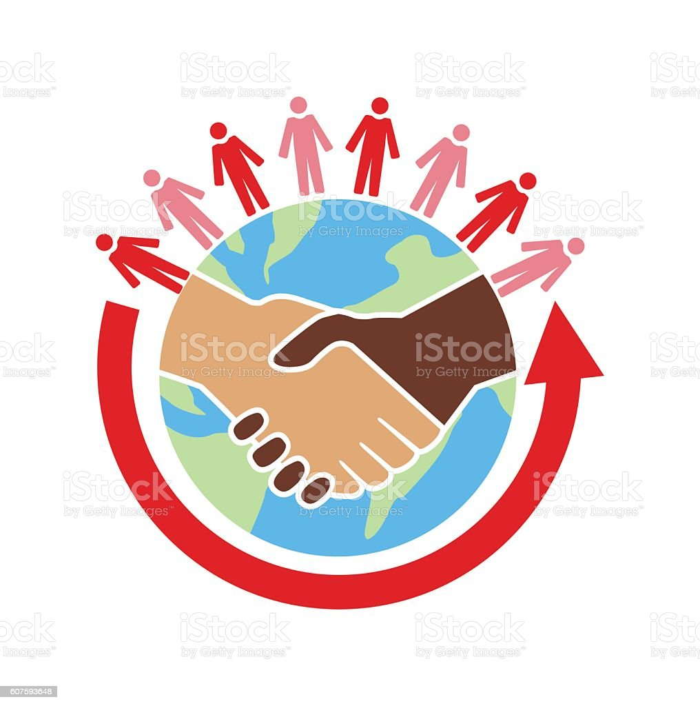 World unity vector art illustration