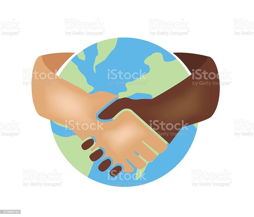 World unity/business vector art illustration