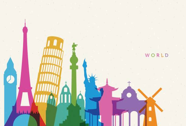 world - travel destinations stock illustrations