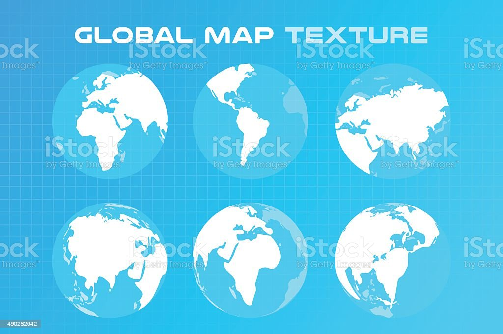 World Vector Map Globe Earth Texture Stock Illustration - Download Image Now - iStock