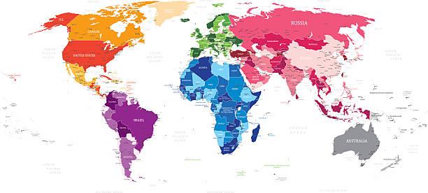World Vector Map vector art illustration