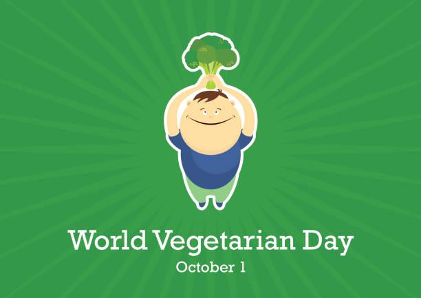 世界の菜食主義者日ベクター ベクターアートイラスト