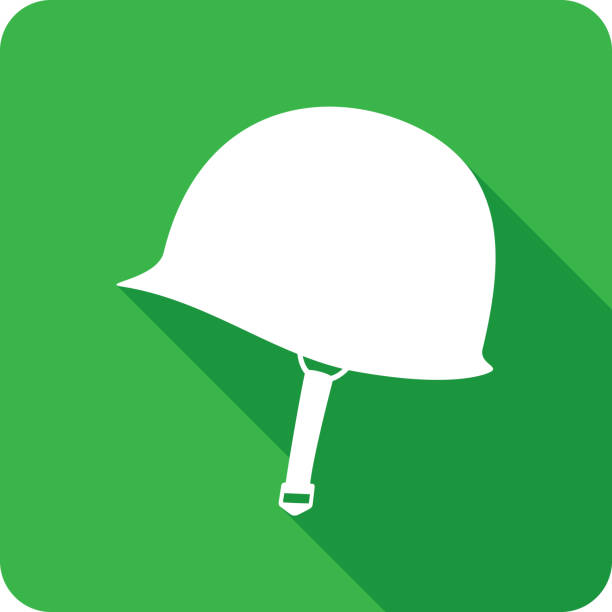 world war 2 helmet icon silhouette - army soldier stock illustrations, clip art, cartoons, & icons
