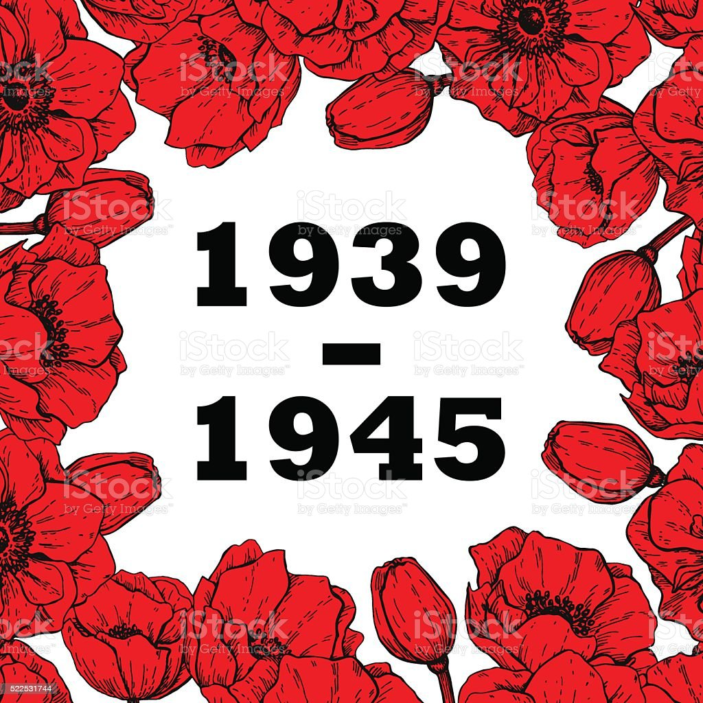 World war ii commemorative symbol frame with red poppies stock world war ii commemorative symbol frame with red poppies royalty free world war ii buycottarizona Gallery