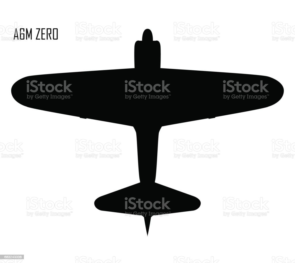 World War II - Mitsubishi A6M Zero vector art illustration