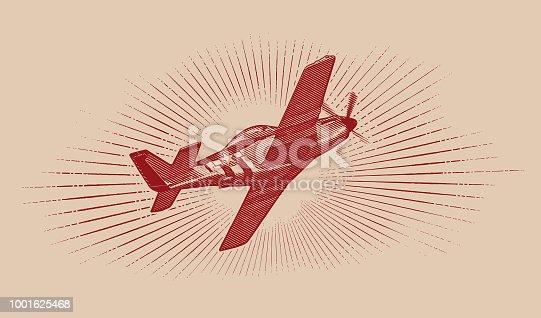 istock World War II P-51 Mustang Airplane. 1001625468
