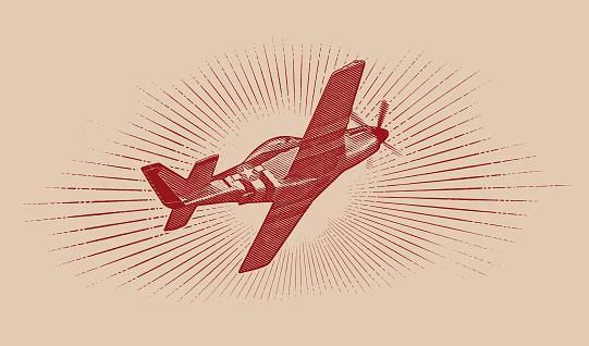 World War II P-51 Mustang Airplane.
