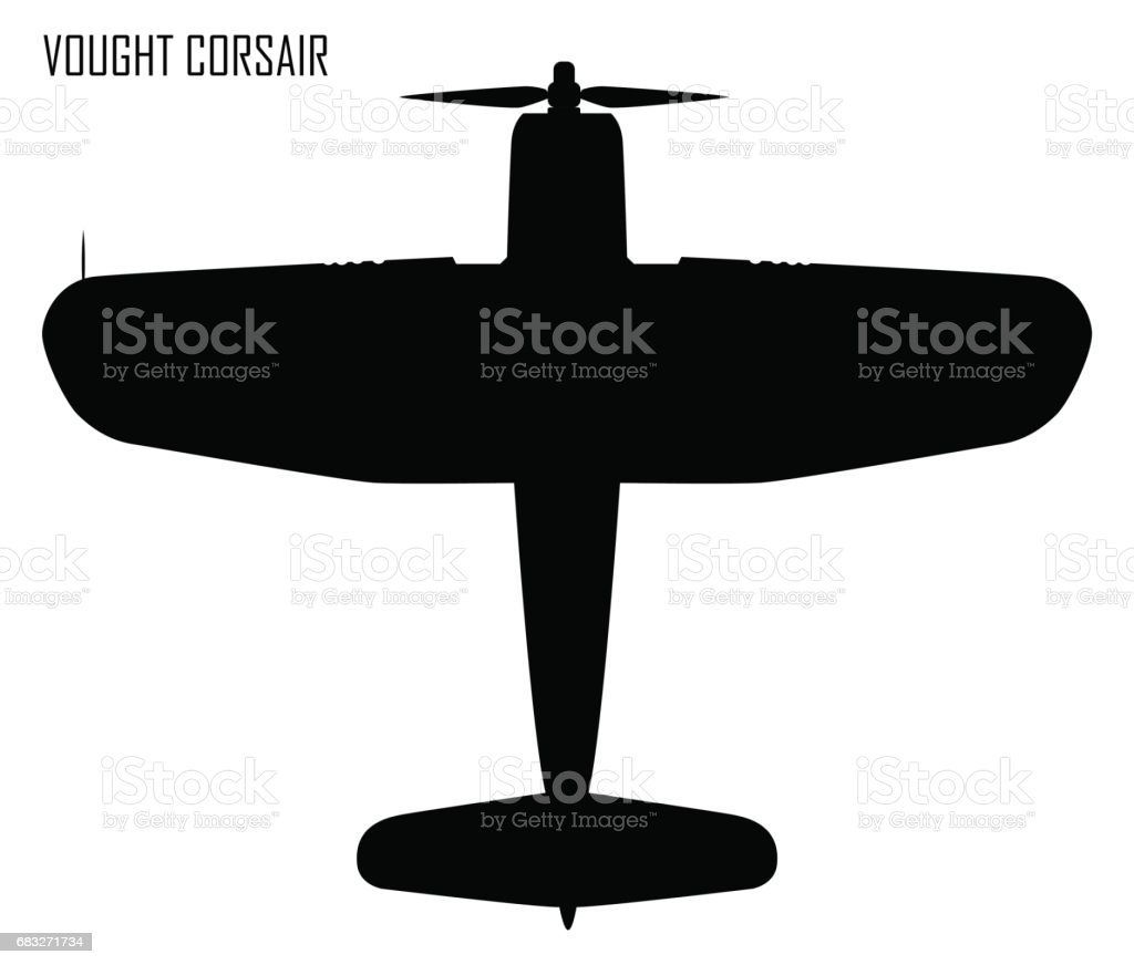World War II - Vought F4U Corsair vector art illustration