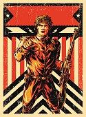 World War Soldier poster