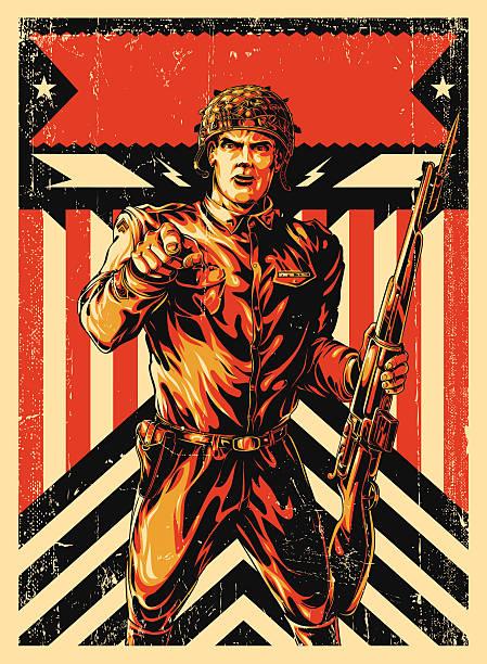 world war soldier poster - world war ii stock illustrations, clip art, cartoons, & icons