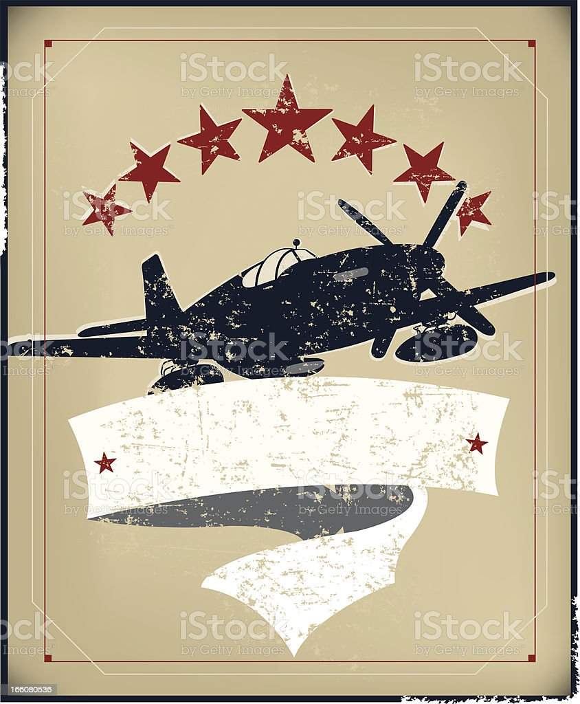 US World War Two Air Force Banner Background royalty-free stock vector art