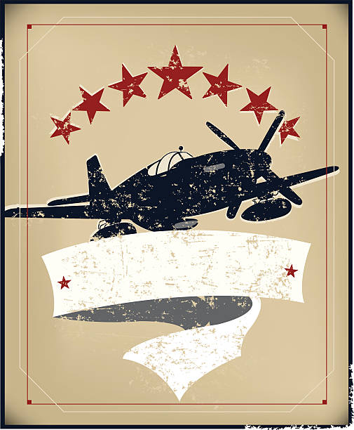 us world war two air force banner background - world war ii stock illustrations, clip art, cartoons, & icons