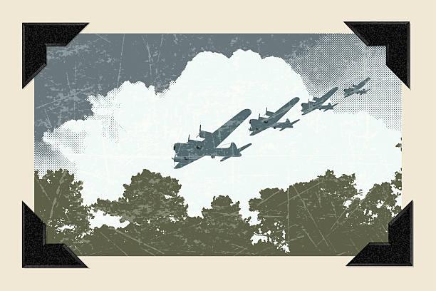 world war two - air raid background - world war ii stock illustrations, clip art, cartoons, & icons
