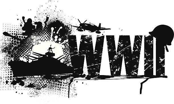 world war two graphic - world war ii stock illustrations, clip art, cartoons, & icons