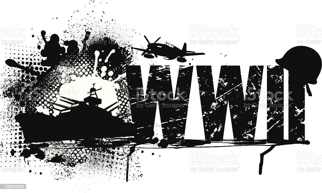 World War Two Graphic Vector Art Illustration