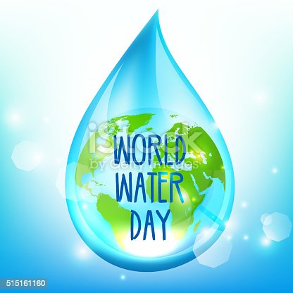 istock World Water Day on blue backrgound 515161160