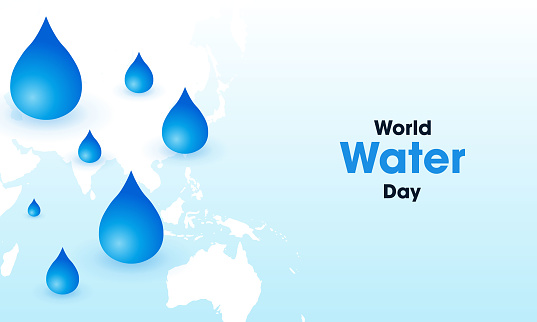 World water day. stock illustration